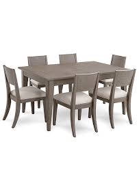 Furniture Tribeca Grey Expandable Dining 7 Pc Set