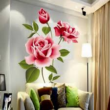 Wall Mural Decals Flowers by Aliexpress Com Buy Creative Gifts Pvc 3d Rose Flower Romantic