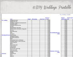 Wedding Costs Checklist