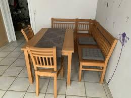 essecke buche massiv tisch bank stühle