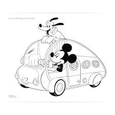 Mickey And Pluto Road Trip Coloring Page