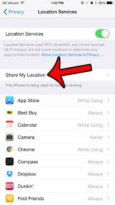 How to Disable the My Location Feature in iOS 8 Solve Your