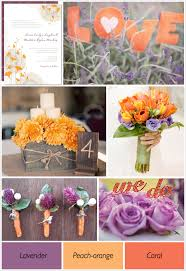 Purple And Orange Wedding Theme Ideas