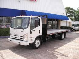 100 20 Ft Truck 19 Isuzu NRR With Ft Flatbed DIESEL Flatbed