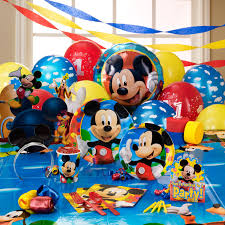 Disney Mickey Mouse Bathroom Decor by Disney Mickey Mouse Clubhouse 1st Birthday Party Supplies