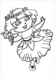 Princess Dora Printable Coloring Page