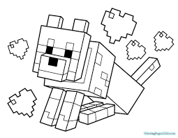 Minecraft Coloring Pages Animals