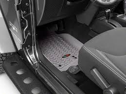 Rugged Ridge Floor Liners by Rugged Ridge Wrangler Floor Liner Kit Gray Front U0026 2nd Row