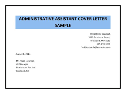 Executive Assistant Cover Letter Executive Assistant fice