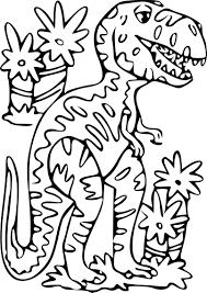 Coloriage Dinosaure TRex à Imprimer Sur COLORIAGES Info
