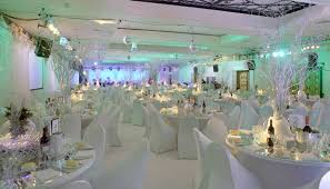 Winter Wonderland Reception Wedding Decorations
