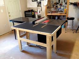 Sawstop Cabinet Saw Outfeed Table by Out Feed Table For My Sawstop By Eli Akin Lumberjocks Com