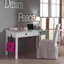 bureau de fille bureau fille blanc contemporain 2 tiroirs stella hcommehome