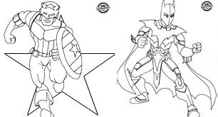Superhero Inspired Coloring Pages Photography Free