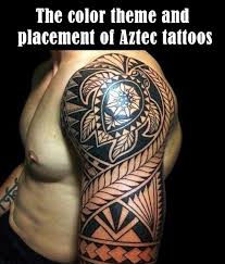 10 The Color Theme And Placement Of Aztec Tattoos