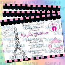 Invitaciones Baby Shower Parísbaby Showerinvitación Paris