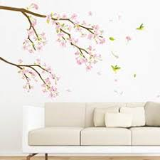 stickers nature fleurs arbre stickers muraux nature ambiance