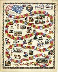 Very Colorful Graphic President George Washington Snake Game Board