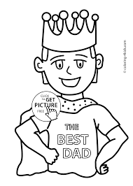 Fathers Day Coloring Pages For Kids Birthday Printable Free