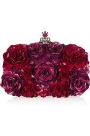 alexander mcqueen enameled flower box clutch net a porter com