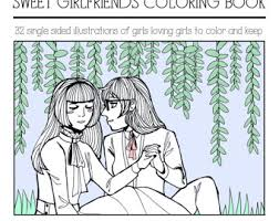 Sweet Girlfriends Coloring Book PDF Lesbian Lgbt Queer Sapphic Wlw