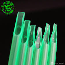 100 Where Is Dhgate Located Mixed Sizes Disposable Tattoo Tips Plastic Material Translucent