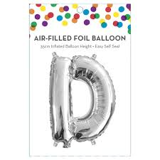 AirFilled Letter D Foil Balloon Kmart