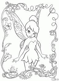 Fancy Tinkerbell Coloring Page 82 On Free Colouring Pages With