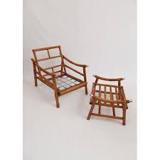 Ficks Reed Lounge Chair by John Wisner Ficks Reed Style Bamboo Lounge Chair U0026 Ottoman Chairish