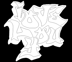 I Love You Coloring Pages Graffiti Free Online Page For Kids