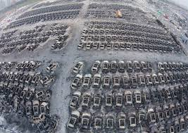 China Tianjin Explosion Haunting Pictures Show Huge Crater Left By Deadly That Killed 112 People