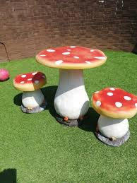 Child Toadstool Table And Stools. | In Cookridge, West Yorkshire | Gumtree Red Toadstool Table Masquespacio Designs Adstoolshaped Fniture For Missana Mushroom Kids Stool Uncategorized Chez Moi By Haute Living Propbox Event Props Fniture Hire Dublin How To Make A Bistro Set Garden In Peterborough Swedish Woodland Robins Floral Side Magentarose Toadstools Fairy Garden