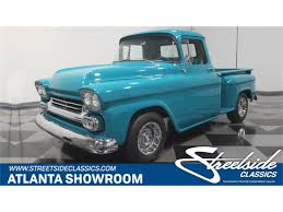 1959 Chevrolet Apache For Sale | ClassicCars.com | CC-1021932 Video This Ls Swapped 59 Apache Is One Badass Restomod 1959 Chevrolet 2014 Truckin Thrdown Competitors Greening Auto Company Jeff Greenings Fileflickr Dvs1mn 31 Pickup 2jpg Retyrd Within Wheels For Chevy Truck Mecum Fl 2016 Apache Pickup Custom 60l Lq9 Hot Rod Network 3100 Pickup Trucks Pinterest Classic Gmc Trucks And What Makes Someone Want To Hold On A For 40