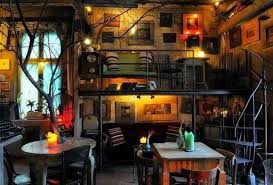 Colorfull Lamp Decorating For Rustic Hipster Interior Design Small Space