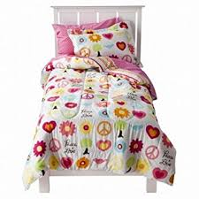 Amazon Circo Full Bed in a Bag Peace Sign Girl forter Set