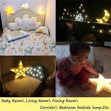 kindernachtlicht schöne wolke sterne mond led 3d licht nachtlicht kinder geschenk spielzeug für baby kinder schlafzimmer tolilet le dekoration