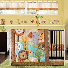 amazon com kids line 4 piece crib bedding set safari dream
