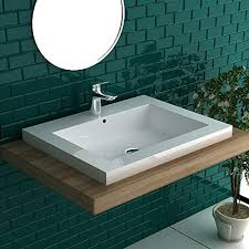 waschtische für das badezimmer eckig keramik waschbecken