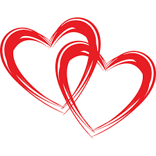 Double Heart Clipart Collection Outline