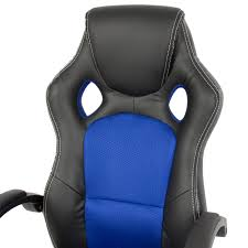Mainstays Desk Chair Multiple Colors Blue by Best Choice Products Executive Racing Gaming Office Chair Pu