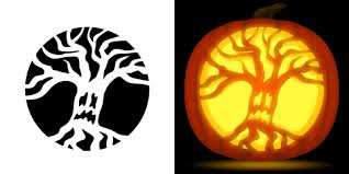 The Walking Dead Pumpkin Stencils Free by Tree Pumpkin Carving Stencil Free Pdf Pattern To Download And