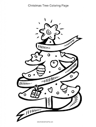 Christmas Tree Coloring Pages Printable by Coloring Pages For Kids