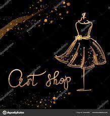 100 Boutique Studio Mode Logo Calligraphie Main Personnalise Art