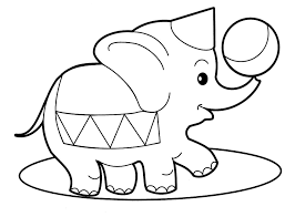 Circus Elephant Animal Coloring Pages
