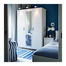 brusali wardrobe with 3 doors white ikea
