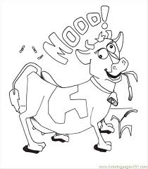 Coloring Pages Cow Page Mammals