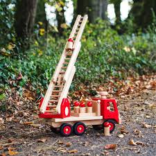 100 Fagus Trucks Fire Engine Special Edition Natural Toys Toy Craft