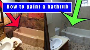 how to paint a bathtub how to refinish an old bath tub youtube