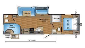 Travel Trailer Floor Plans With Bunk Beds by 2018 Jayco Jay Flight 29bhdb Model