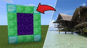 100 The Island Retreat How To Make A Portal To The Dimension In MCPE Minecraft PE